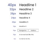 What font size does Bootstrap 4 use for their elements